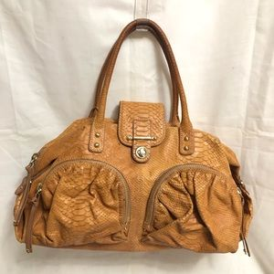 Botkier Tan Embossed Snakeskin Python Leather Bag